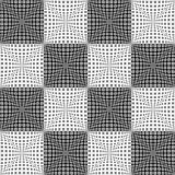 Design seamless monochrome checked pattern Stock Photography