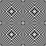 Design seamless monochrome checked pattern Stock Photos