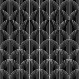 Design seamless monochrome circle lines pattern Royalty Free Stock Photo