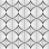 Design seamless monochrome circle lines pattern Stock Photography