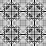 Design seamless monochrome circle lines pattern Stock Photography