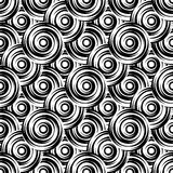 Design seamless monochrome circle pattern Stock Photos