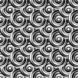 Design seamless monochrome circle pattern Royalty Free Stock Images