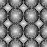 Design seamless monochrome circular pattern Royalty Free Stock Image