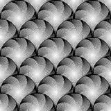 Design seamless monochrome circular pattern Stock Photography