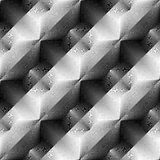 Design seamless monochrome convex pattern Stock Photos