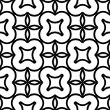 Design seamless monochrome decorative pattern. Abstract background. Vector art Royalty Free Stock Images