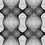 Design seamless monochrome decorative pattern Royalty Free Stock Images