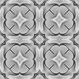 Design seamless monochrome decorative pattern Royalty Free Stock Image