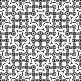 Design seamless monochrome decorative pattern Royalty Free Stock Image