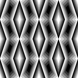 Design seamless monochrome diamond pattern Stock Image