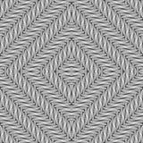 Design seamless monochrome diamond pattern Royalty Free Stock Photos
