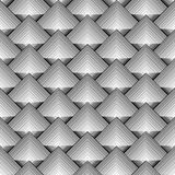Design seamless monochrome diamond pattern Stock Photos