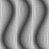 Design seamless monochrome dots pattern Royalty Free Stock Images