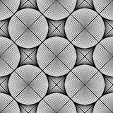 Design seamless monochrome ellipse pattern Royalty Free Stock Images