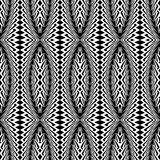 Design seamless monochrome ellipse pattern Stock Image