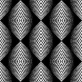 Design seamless monochrome ellipse pattern Royalty Free Stock Photography