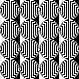 Design seamless monochrome ellipse pattern Stock Photography