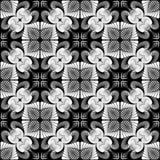 Design seamless monochrome flower pattern Royalty Free Stock Photo