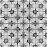 Design seamless monochrome flower pattern Royalty Free Stock Images