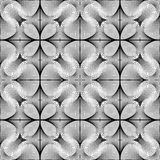 Design seamless monochrome flower pattern Stock Photography