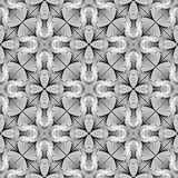 Design seamless monochrome flower pattern Stock Image