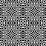 Design seamless monochrome flower pattern Stock Photos