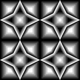 Design seamless monochrome geometric pattern Stock Photo