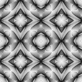 Design seamless monochrome geometric pattern Stock Photography
