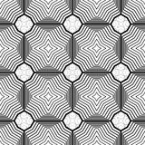 Design seamless monochrome geometric pattern Royalty Free Stock Photos