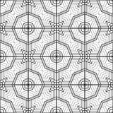 Design seamless monochrome geometric pattern Royalty Free Stock Images