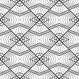 Design seamless monochrome geometric pattern Royalty Free Stock Photo