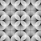 Design seamless monochrome geometric pattern Stock Photography