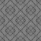 Design seamless monochrome geometric pattern Royalty Free Stock Photos