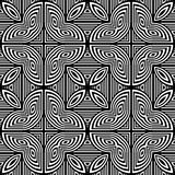 Design seamless monochrome geometric pattern Stock Image