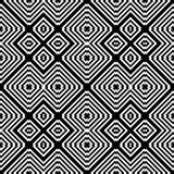 Design seamless monochrome geometric pattern Stock Images