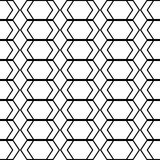Design seamless monochrome geometric pattern Royalty Free Stock Photography