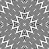 Design seamless monochrome geometric pattern Royalty Free Stock Image