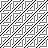Design seamless monochrome geometric pattern Royalty Free Stock Images