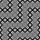 Design seamless monochrome geometrical pattern Stock Photography