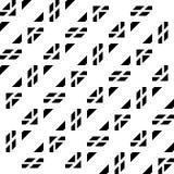 Design seamless monochrome grating pattern. Abstract geometric background. Vector art stock illustration