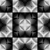 Design seamless monochrome grating pattern. Abstract geometric background. Vector art. No gradient stock illustration