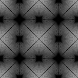 Design seamless monochrome grating pattern. Abstract illusion background. Vector art. No gradient Royalty Free Stock Photos