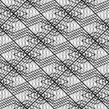 Design seamless monochrome grating pattern. Abstract lines textured background. Vector art. No gradient Stock Photography