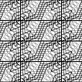 Design seamless monochrome grating pattern Stock Photography