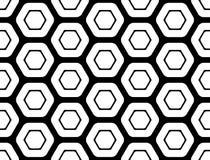 Design seamless monochrome hexagon pattern Stock Photography