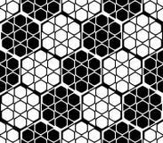 Design seamless monochrome hexagon pattern Royalty Free Stock Images