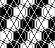 Design seamless monochrome hexagon pattern Royalty Free Stock Photos