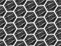 Design seamless monochrome hexagon pattern Stock Photos