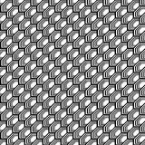 Design seamless monochrome hexagon pattern Stock Photography